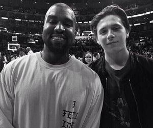 kanye west and brooklyn beckham image