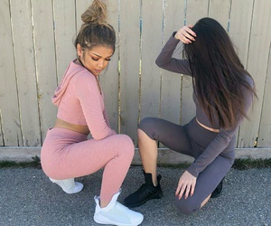 friends, pink, and style image