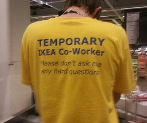 ikea, funny, and yellow image