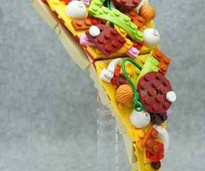 pizza, lego, and food image