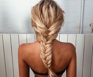 blonde, braid, and gorgeous image