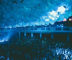 party, blue, and balloons image