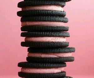 pink, oreo, and food image