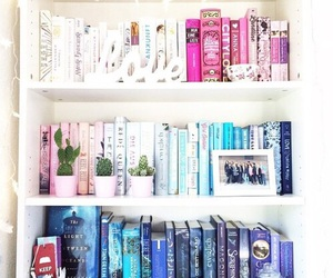 book, bookcase, and bookshelf image