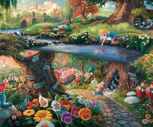 alice in wonderland, art, and landscape image