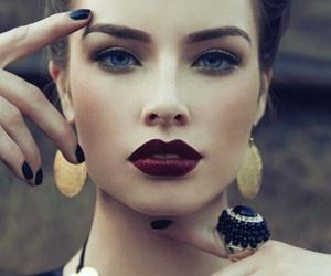makeup, lips, and model image