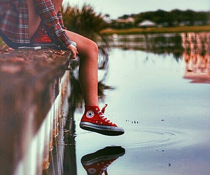 converse, girl, and land image