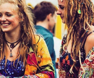 happy, hippie, and friedship image