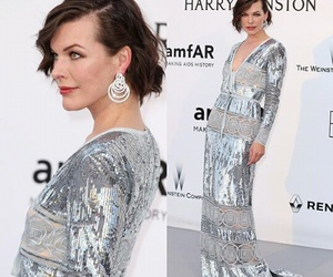 cannes, Milla Jovovich, and red carpet image