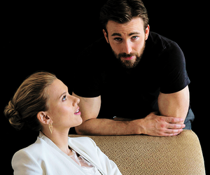 chris evans, Scarlett Johansson, and captain america image