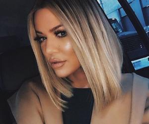 khloe kardashian, hair, and makeup image