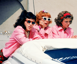 grease, pink, and vintage image