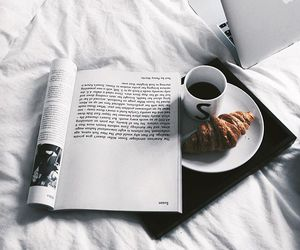 coffee, breakfast, and book image