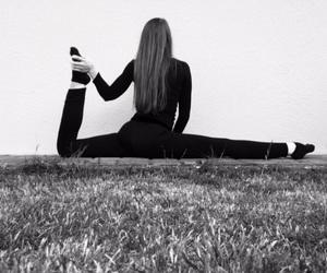 blackandwhite, gymnast, and gymnastics image