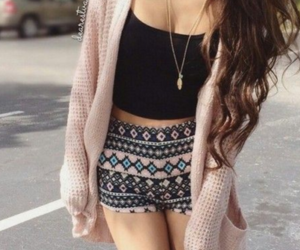 outfits, pink cardigan, and tumblr outfits image
