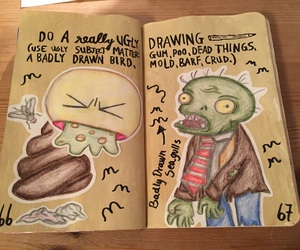 wreck this journal, my wreck this journal, and do a really ugly drawing image