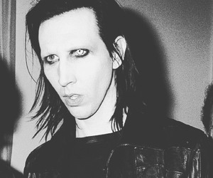 90s, black and white, and brian warner image