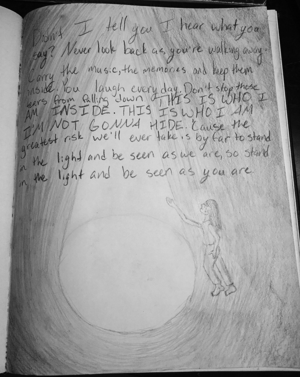 Darkness, light, and drawing image