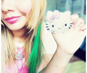 hair, hello kitty, and knuckles image