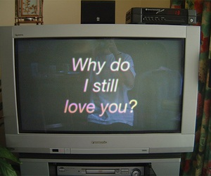 love, grunge, and tv image