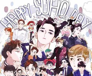 suho, exo, and happy suho day image