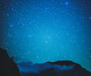 blue, stars, and clouds image