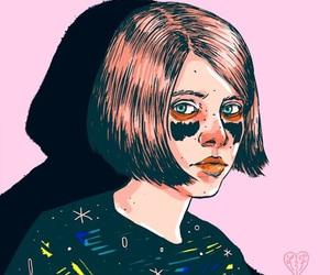 girl, gif, and art image