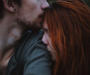 couple, redhead, and kiss image