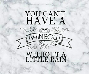 background, quote, and rainbow image