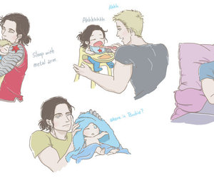 babies, captain america, and winter soldier image