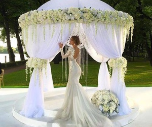 wedding, wedding dress, and love image