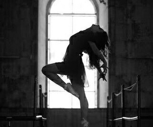dance, black and white, and dancing image