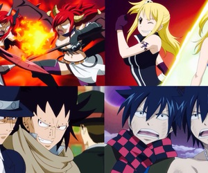 gray, Lucy, and fairy tail image