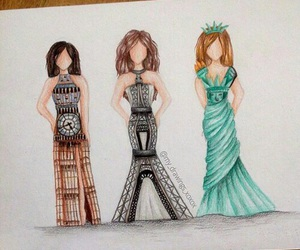 dress, london, and paris image