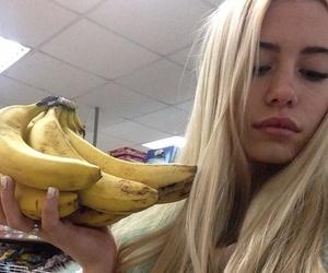 girl, banana, and grunge image