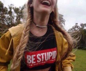 girl, smile, and grunge image