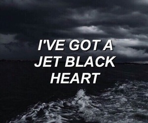 5sos, jet black heart, and black image