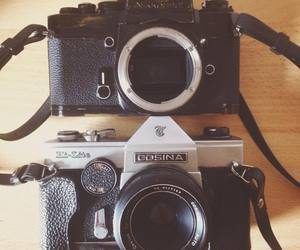 camera, cameras, and hipster image