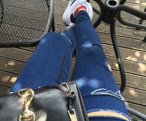 adidas, bag, and jean image