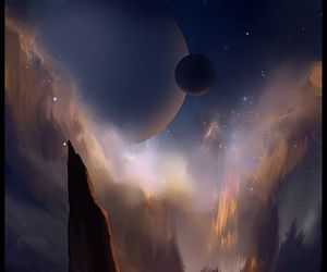 art, fantasy, and space image