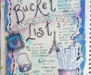 bucket list, art, and journal image