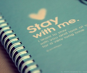 blue, notebook, and stay image