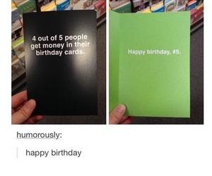 funny, birthday, and birthday card image
