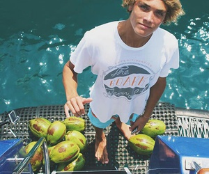 babe, coconut water, and blonde image