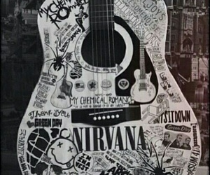 guitar, nirvana, and music image