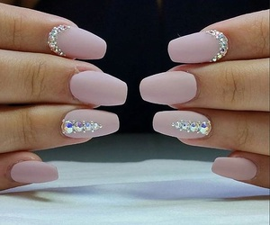 pink nails, nail art, and nails image