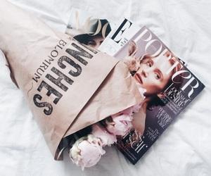 flowers, vogue, and magazine image
