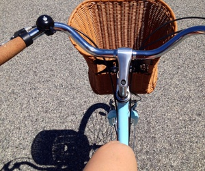 bike, summer, and bicycle image