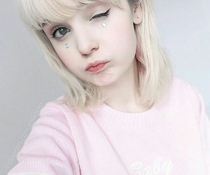 girly, pastel, and pink image