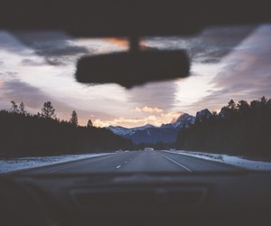 car, sky, and travel image